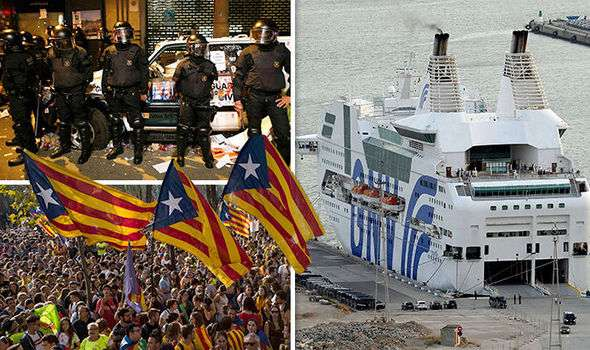 Spain's civil CRISIS: Police boats BLOCKED by Catalan ports