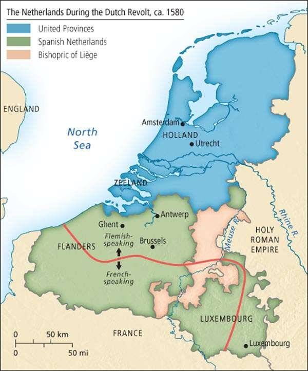 The Netherlands during the Dutch Revolt, 1580